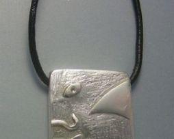 colgante sello maya humano colgante plata