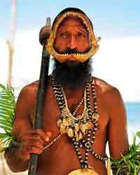 nativo papua de Nueva guinea