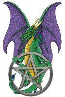 pentáculo y dragón