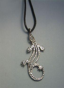 salamandre pendentif en argent