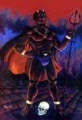orixa Exú diablo con tridente
