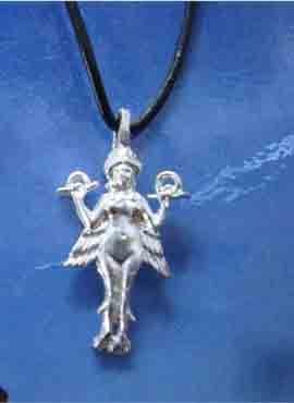 Ishtar diosa colgante plata