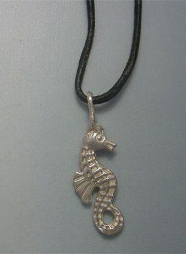 colgante caballito de mar plata maciza colgante