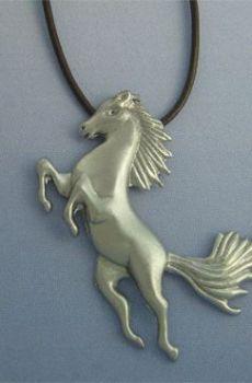 colgante caballo de plata colgante