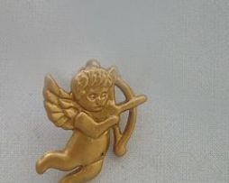 colgante ángel Cupido o Eros amuleto de oro de ley