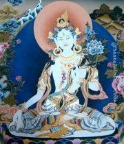diosa Tara tibetana blanca