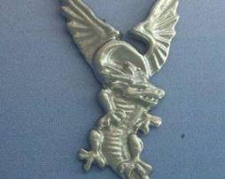 colgante dragón de fuego amuleto polaco plata