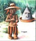 elegua orixa umbanda con cocos y conchas