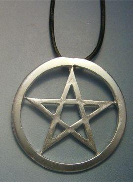pentáculo de plata wicca