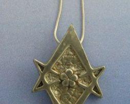 colgante hexagrama unicursal de plata de ley
