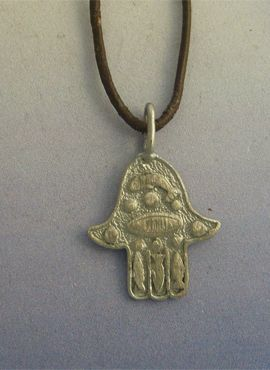 colgante mano de Míriam o de Fátima amuleto de plata