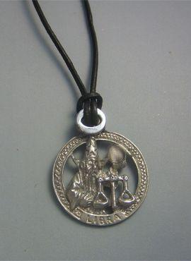 colgante horóscopo libra zodiaco de plata