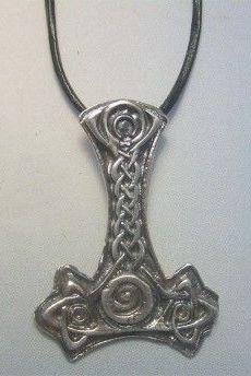 martillo de thor de plata mjolnir amuleto vikingo