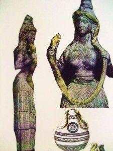 diosas minoicas estatuillas encontradas de cultura cretense