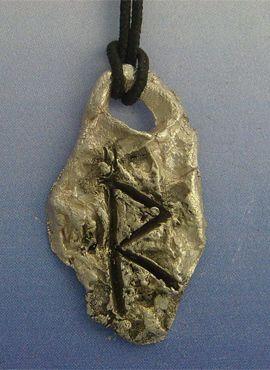 colgante runa vikinga raidoh de plata