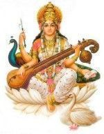Sarasvati, la mujer de Brahma y diosa del conocimiento y la música