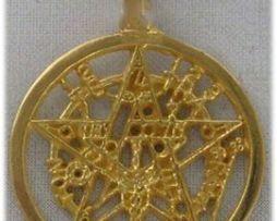 tetragramaton de oro amuleto colgante