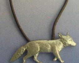 colgante zorro plata amuleto