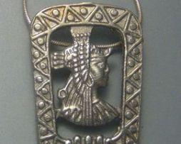 Cléopâtre reine d'Egypte pendentif en argent