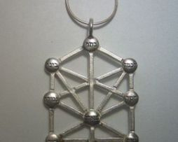 colgante árbol cabala de sephiroths amuleto de plata de ley