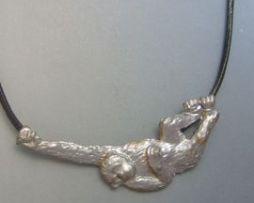 chimpancé de plata colgante amuleto