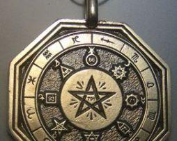 colgante vitriolum talismán cabalístico de plata