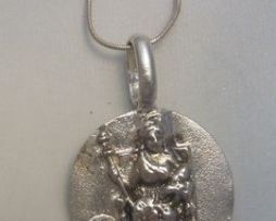 colgante Deméter de plata medalla diosa griega