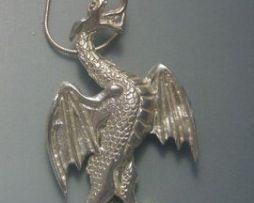 colgante dragón de Gales colgante de plata amuleto galés del rey Uther