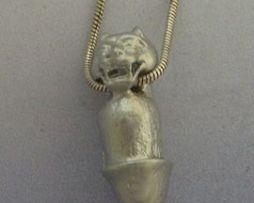 colgante pene tigre amuleto colgante de plata