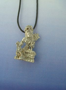colgante diosa tara tibetana de plata