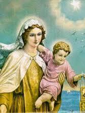 virgen del Cármen y el niño Jesús