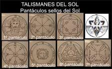 talismanes pantáculos del sol. Sellos de Salomón