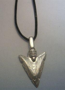 Talismanes Amuletos Y Símbolos Colgante De Flecha Punta De Silex