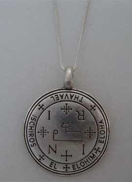 sello talismán de Thavael. colgante de plata