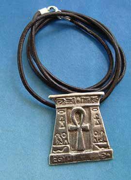 amuleto egipcio cruz anj plata