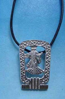 colgante cleopatra de egipto amuleto de plata