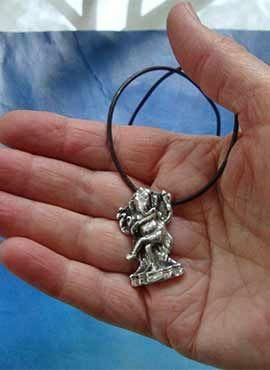 colgante dios Ganesha bailando joya de plata