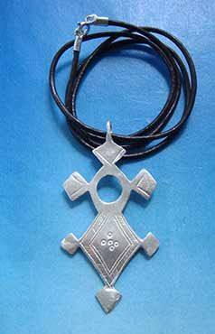 cruz tuareg agadez iferwan colgante de plata
