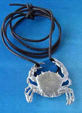 colgante cangrejo de plata