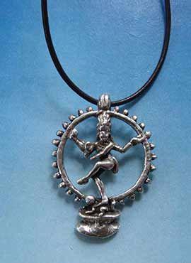 joya plata Shiva Nataraja danzante dios hindú