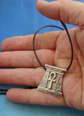 colgante anj amuleto egipto plata