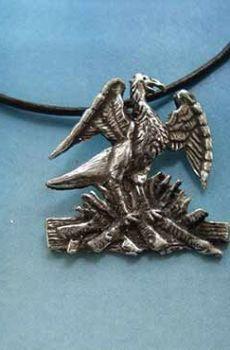 colgante ave phoenix fenix de plata