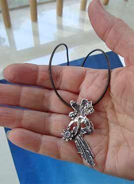 joya del hada madrina colgante de plata