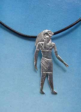colgante dios halcon Horus Egipto plata