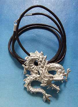 collar del dragón Fuku riu colgante de plata