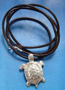 colgante tortuga de plata collar