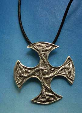 cruz celta escocesa de Clackham joya plata