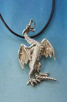 colgante dragón San Jorge plata de ley