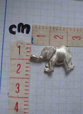 colgante elefante de plata medidas