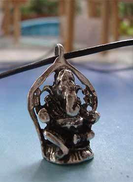 dios Ganesha hindu elefante colgante de plata